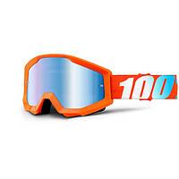 Маска 100% Strata ORANGE Mirror Lens