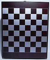 Набор в деревянном сундучке: шахматы + фляга + зажигалка + нож/штопор. (Малый)