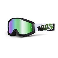 Маска 100% Strata BLACK LIME Mirror Lens