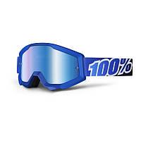 Маска 100% Strata BLUE LAGOON Mirror Lens