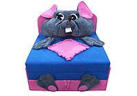 """Детский диван """"Омега с аппликацией Мышка"""" Ribeka"""