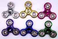 Спиннер цветной блестящий металл, №2618 игрушка антистресс (крутилка для рук) 6цветов уп200