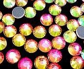 Стразы DMC, Rainbow (рэйнбоу) SS10, термоклеевые. Цена за 144шт