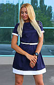 Платье школьное модное с поясом  арт.432
