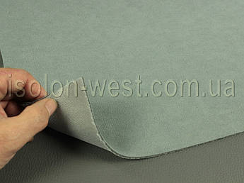 Ткань потолочная 2П серая, автовелюр на поролоне с сеткой шир. 1.8м