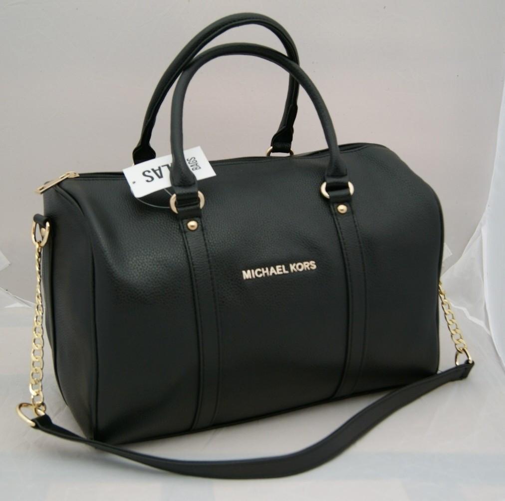 bf5cc2d6d75e Женская сумка саквояж Michael Kors, черный Майкл Корс MK - Интернет-магазин