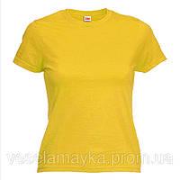 Желтая женская футболка (Комфорт)