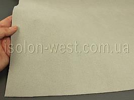 Ткань потолочная светло-серая (тёплый оттенок),авто велюр на поролоне с сеткой шир. 1.8м