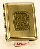 Портсигар метал. (20 сигарет)
