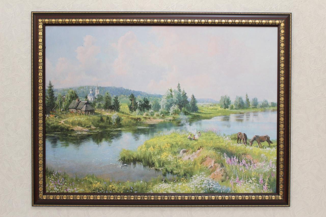 """Картина """"Дети на берегу реки"""""""