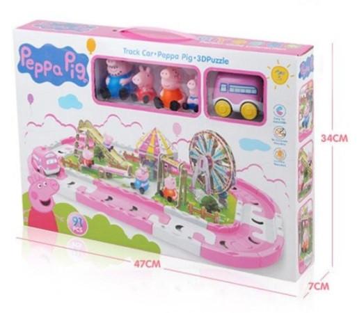 Свинка Пеппа набор дорога и парк с аттракционами Peppa Pig. 3D пазлы