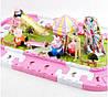 Свинка Пеппа набор дорога и парк с аттракционами Peppa Pig. 3D пазлы, фото 3