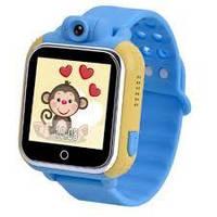 Дитячі розумні годинник Q200 (TW6) GPS з камерою + WiFi, сині, фото 1