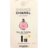 Туалетная вода с феромонами Chanel Chance Eau Tendre 3х15 мл.
