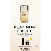 Туалетная вода с феромонами Chanel Egoiste Platinum 3х15 мл.
