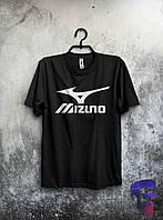 Стильная мужская футболка с принтом Mizuno