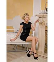 Модное женское черное платье