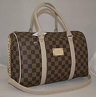 Женская сумка саквояж Louis Vuitton, коричневая в клетку Луи Виттон, фото 1