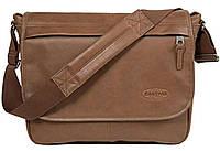 Кожаная мужская городская сумка EastPak DELEGATE Brownie Leather, 38х30х12, EK07608N