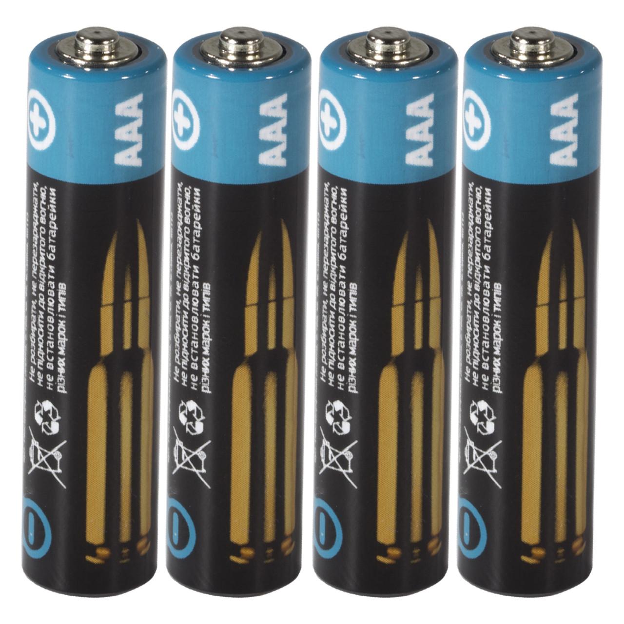 Батарейка Logic Power AAА R3P солевая 4 шт вакуумная упаковка для фотоаппарата пульта
