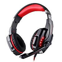 Супер гарнитура KOTION G9000 черно-красная для ноутбука USB jack 3.5мм музыкальная игровая с микрофоном