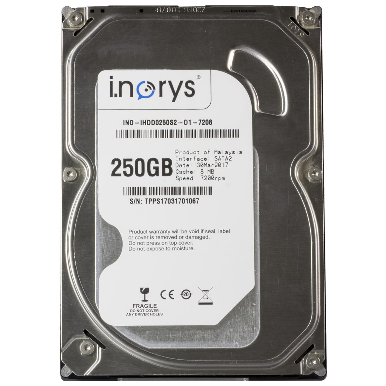 Жесткий диск i.norys 250 GB 7200 rpm 8 MB (INO-IHDD0250S2-D1-7208) HDD SATA для компьютера носитель винчестер