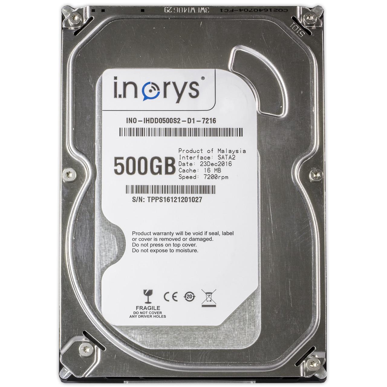 "Жесткий диск i.norys 500 GB 5900 rpm 8MB (INO-IHDD0500S2-D1-5908) HDD 3,5"" внутренний"