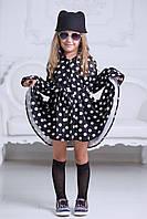 Детское модное платье-рубашка