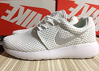 Кроссовки женские белые Nike (найк) Roshe Run (рош ран)  2016