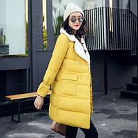 Пальто женское желтое