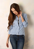 Рубашка женская в клетку, женские рубашки 2017