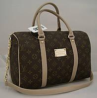 Женская сумка саквояж Louis Vuitton, коричневая с LV Луи Виттон, фото 1