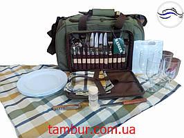 Набор для пикника Pic Rest на 4 персоны зеленый