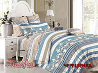 Семейный набор хлопкового постельного белья из Сатина №163 KRISPOL™