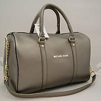 Женская сумка саквояж Michael Kors, серый металлик Майкл Корс MK
