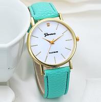 Женские наручные часы бирюзовые Geneva