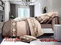 Двуспальный набор постельного белья 180*220 из Сатина №1417 KRISPOL™