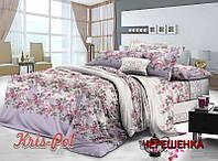 Двуспальный набор постельного белья 180*220 из Сатина №1414 KRISPOL™