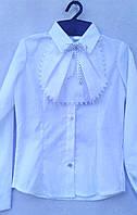 Детская блузка для девочки Жабо р.116-140