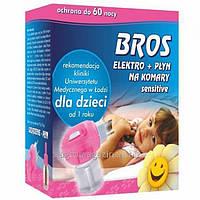BROS электрофумигатор + жидкость от комаров для детей 60 ночей 40мл