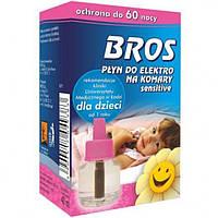 Bros жидкость к электрофумигатору от комаров для детей 60 ночей 40мл