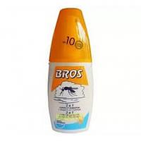Спрей от комаров Bros 2в1+защита от солнца 50мл