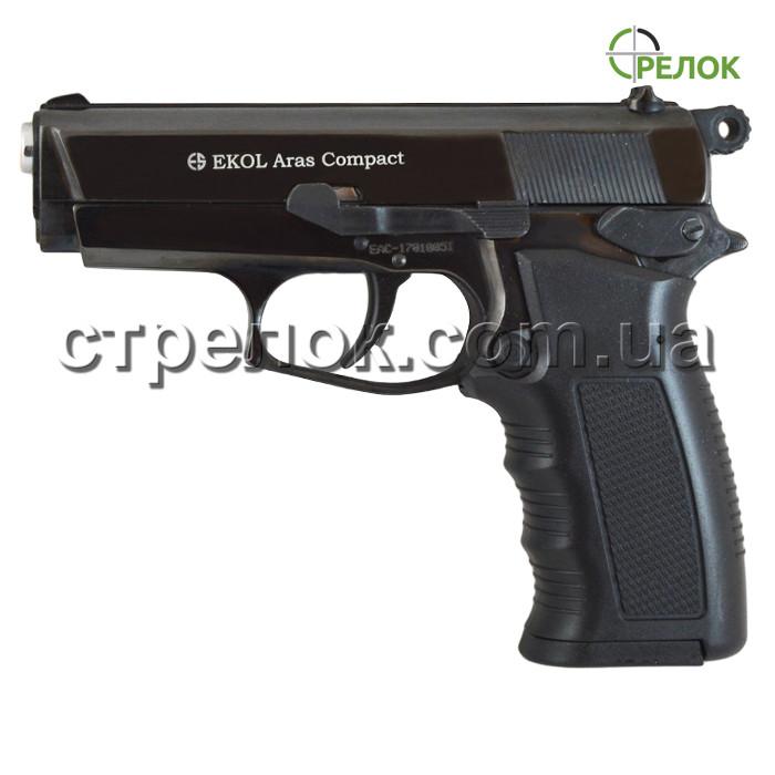 Пистолет стартовый Ekol Aras Compact черный - Интернет магазин Стрелок в Харькове