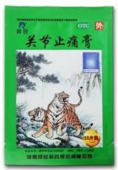 Китайский пластырь для суставов Зеленый Тигр (10шт./уп)