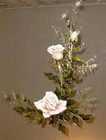 Витраж ручной работы Розы