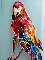 Витраж ручной работы Попугай Ара