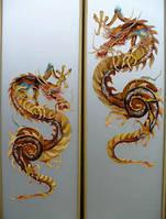 Витраж ручной работы Китайский дракон