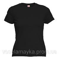 Черная женская футболка (Комфорт)