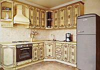 """Угловая кухня """"Вензель патина"""" Альфа-Мебель"""
