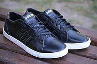 Мужские легкие кроссовки Adidas черный (адидас, реплика)